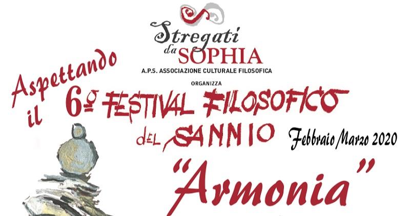 """Fitto cartellone per la sesta edizione del Festival Filosofico del Sannio organizzato dall'Associazione """"Stregati da Sophia"""""""