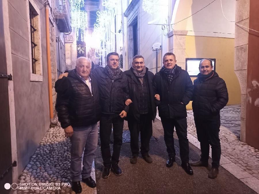 Luci d'artista a San Lorenzello, la visita del Presidente Di Maria