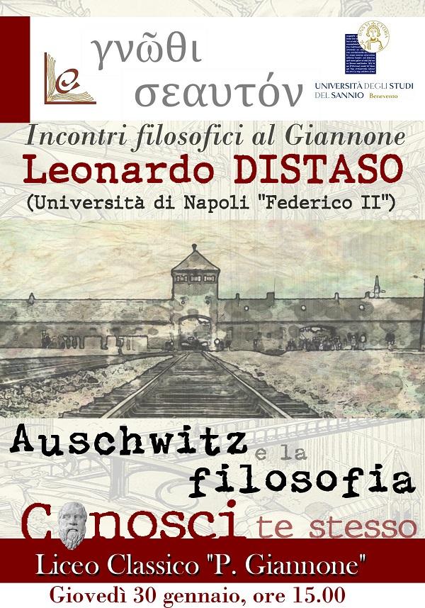 Incontri filosofici al Giannone: Distaso su Auschwitz e la filosofia