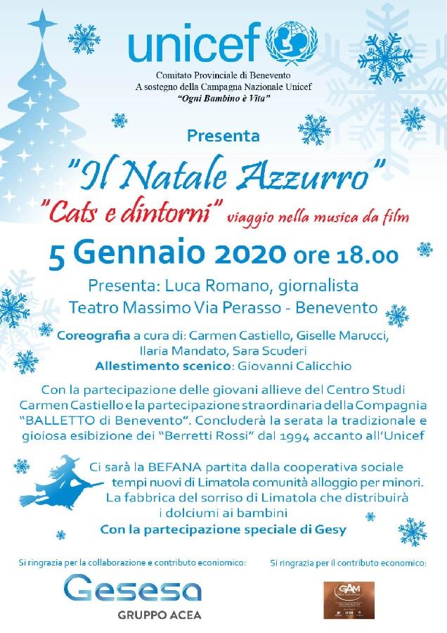 """""""Natale Azzurro – Cats e dintorni viaggio nella musica da film"""", domenica al Teatro Massimo di Benevento"""
