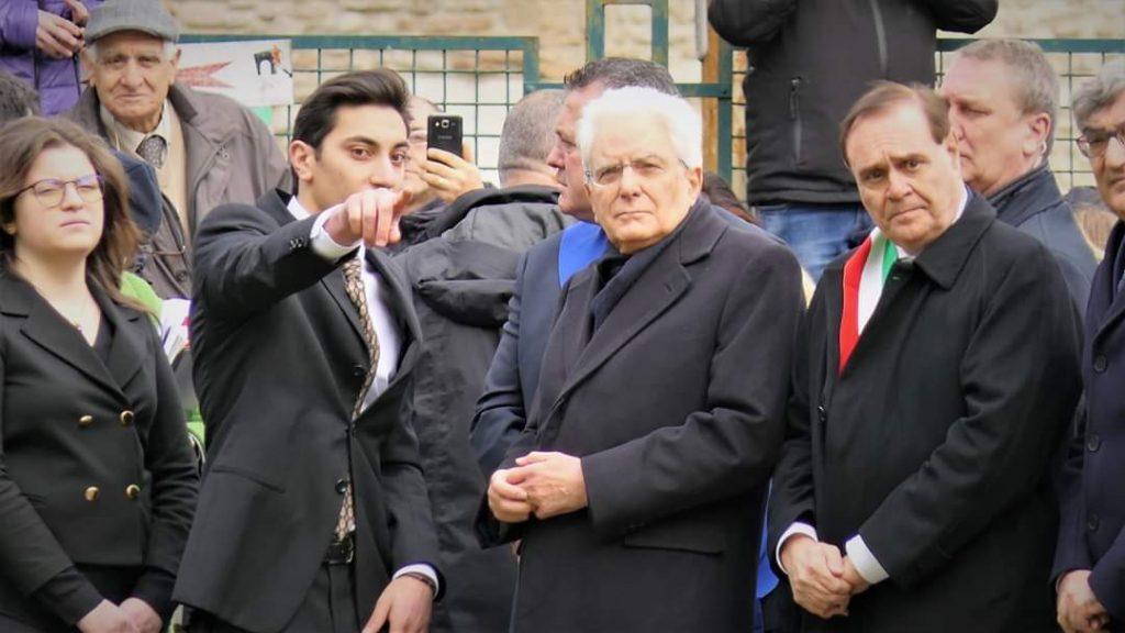 Sergio Mattarella incontra due promettenti giovani liceali beneventani