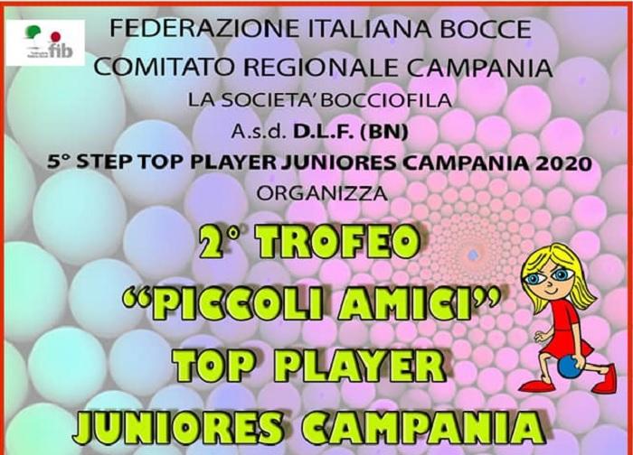 Top Player Juniores Campania: 4 Tappe in programma tra Febbraio e Marzo
