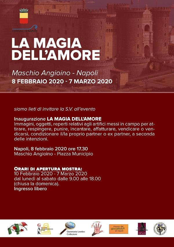 """Le Janare di Benevento conquistano Napoli e  il Maschio Angioino grazie alla mostra  """"La Magia dell'Amore"""""""