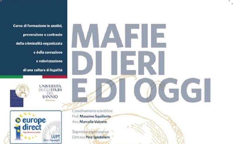 """""""Mafie di ieri e di oggi"""" : domani a Palazzo San Domenico si presenta il corso di formazione"""