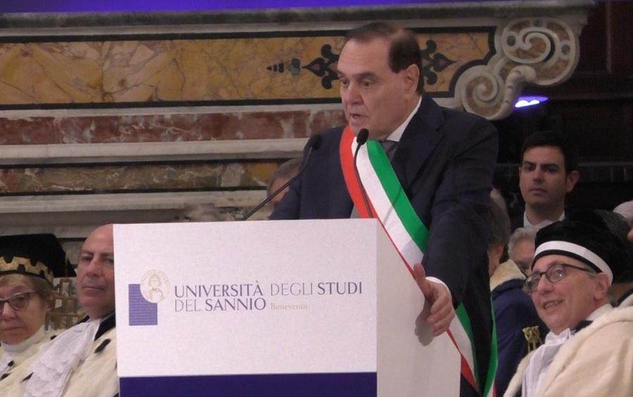 Mastella da il benvenuto al Presidente della Repubblica Sergio Mattarella