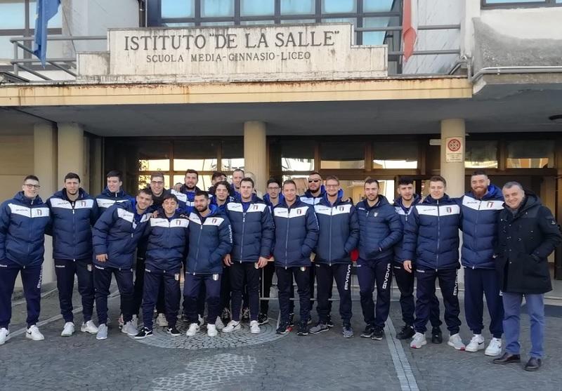 """Pallamano, la Nazionale Italiana incontra le scuole.Parisini: """"Si punta ai Mondiali"""""""