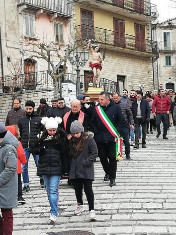 San Sebastiano Patrono degli Agenti di Polizia.Nell'occasione il saluto del Presidente Di Maria