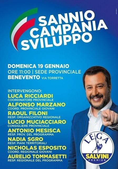 """Domani 19 Gennaio presso la Lega incontro """"Sannio Campania Sviluppo"""""""