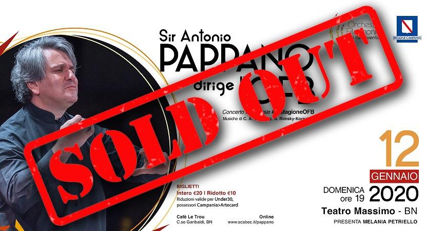 E' il giorno di Sir Antonio Pappano  e dell'Orchestra Filarmonica di Benevento