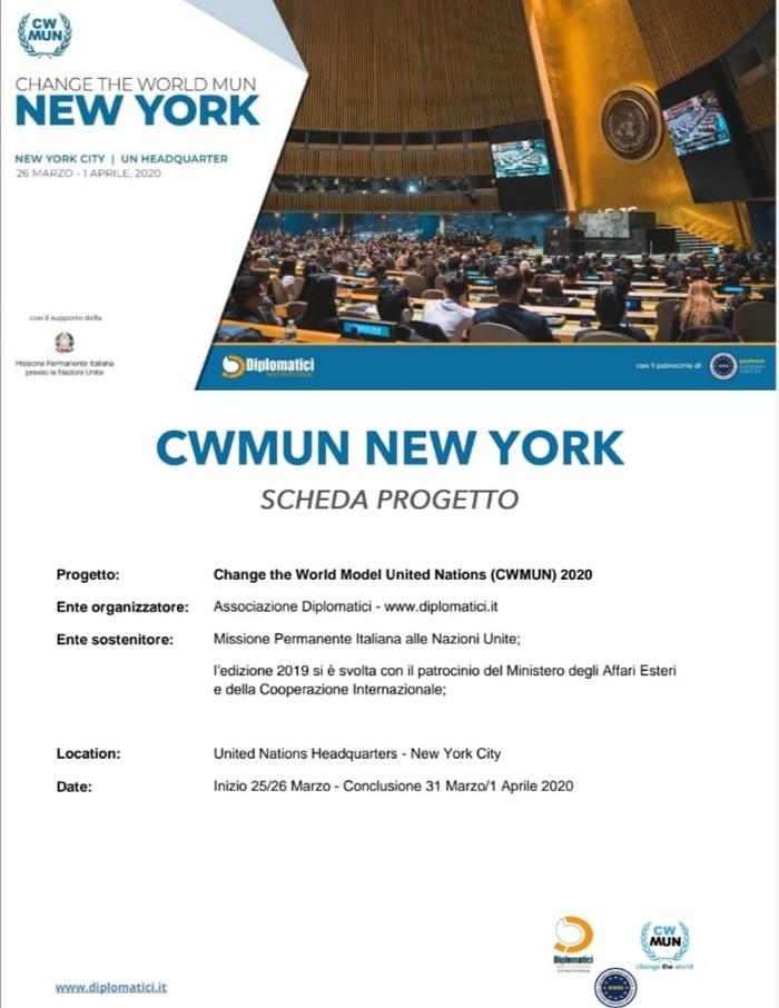 Stage per i neo diplomati da Bucciano a New York offerto dal Comune