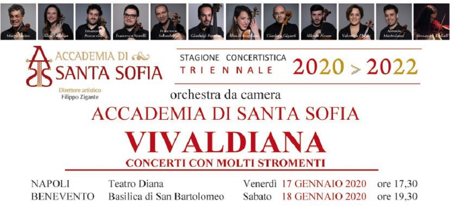 """""""Concerti con molti strumenti""""debutta la nuova Stagione Concertistica dell'Accademia di Santa Sofia"""
