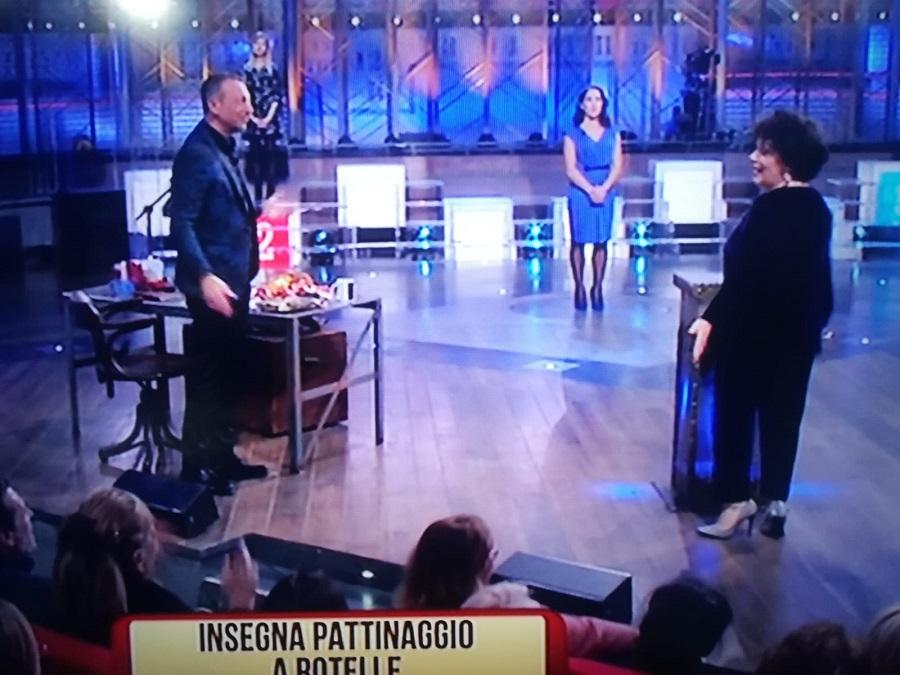 La pattinatrice, campionessa mondiale 2011, Viviana D'Alessandro  ai soliti ignoti