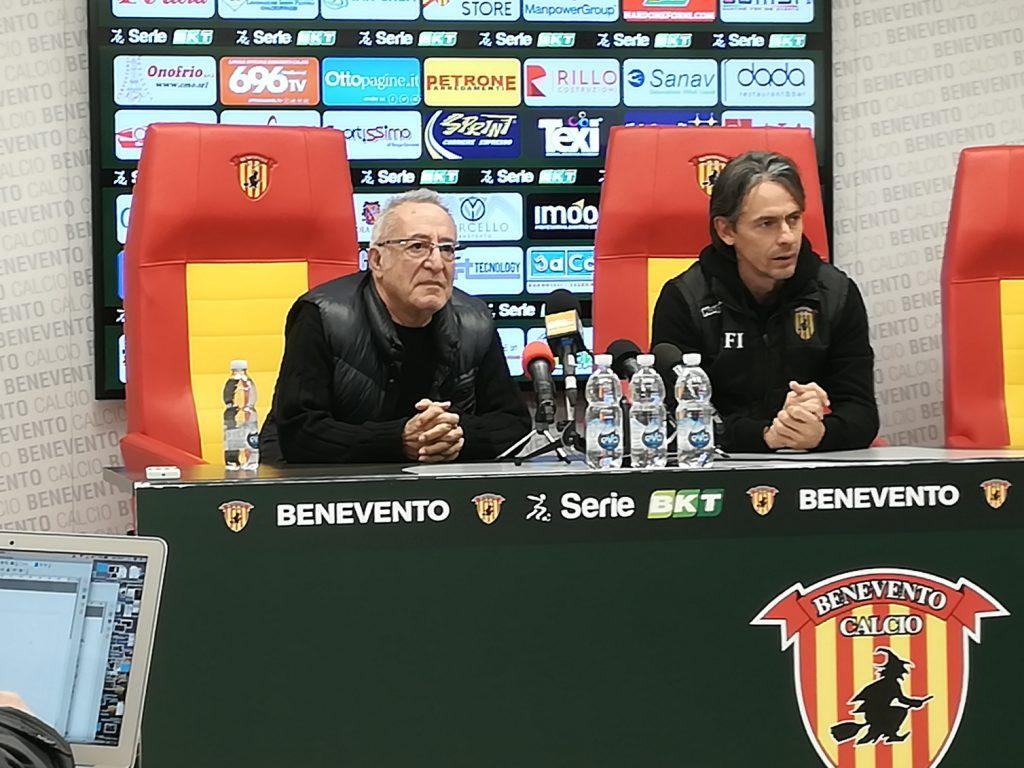 """Vigorito annuncia : """" Inzaghi sara' allenatore del Benevento anche il prossimo anno"""""""