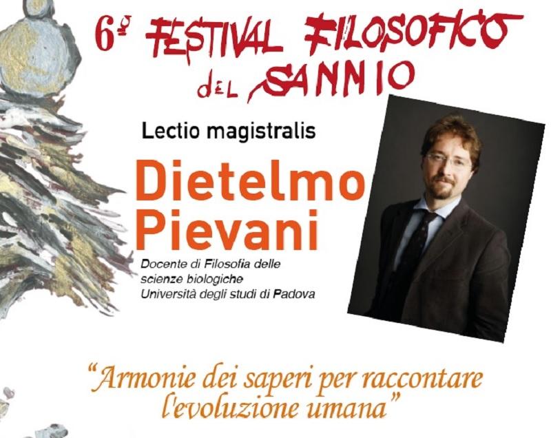 Il 21 Febbraio il quarto appuntamento del 6° Festival Filosofico del Sannio con il prof. Dietelmo Pievani