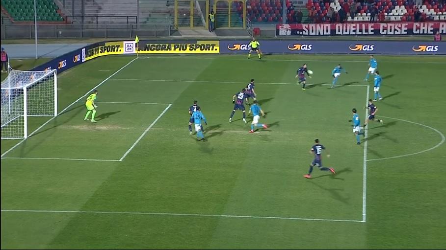 Benevento inarrestabile espugna il Marulla di Cosenza vincendo per 1 a 0