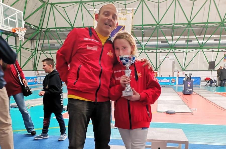 L'Accademia Olimpica Beneventana di Scherma si è distinta nella II° Prova Regionale GPG di Portici