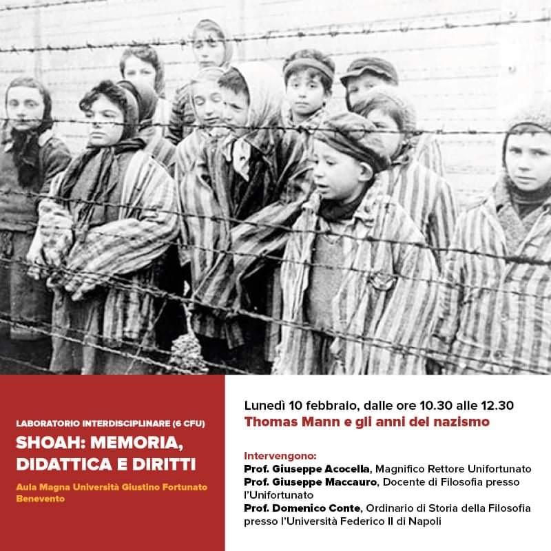 """Laboratorio sulla Shoah: """"Memoria didattica e diritti"""" all'Unifortunato"""