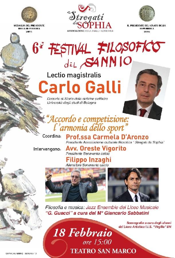 Martedi 18 Febbraio terzo appuntamento del 6° Festival Filosofico del Sannio
