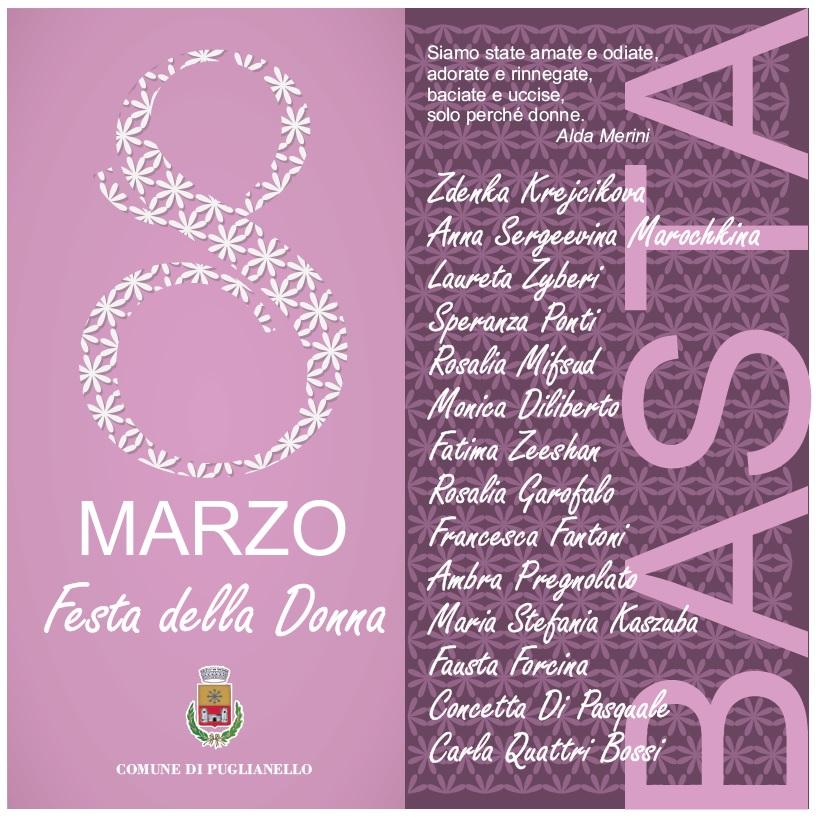 Puglianello, annullata la Cerimonia dell'8 Marzo Festa della Donna.
