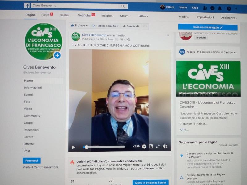 """CIVES: Interesse per l'evento Facebook  """"Il futuro che ci impegniamo a costruire"""""""