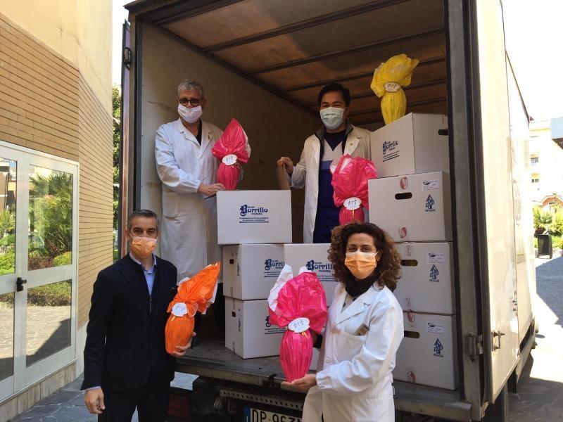 L'AIL dona 500 uova di Pasqua all'U.O. di Oncologia del Fatebenefratelli di Benevento