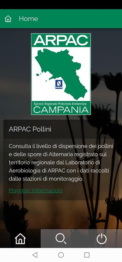 Arpac. Pollini, ecco l'app che informa sulle concentrazioni in Campania