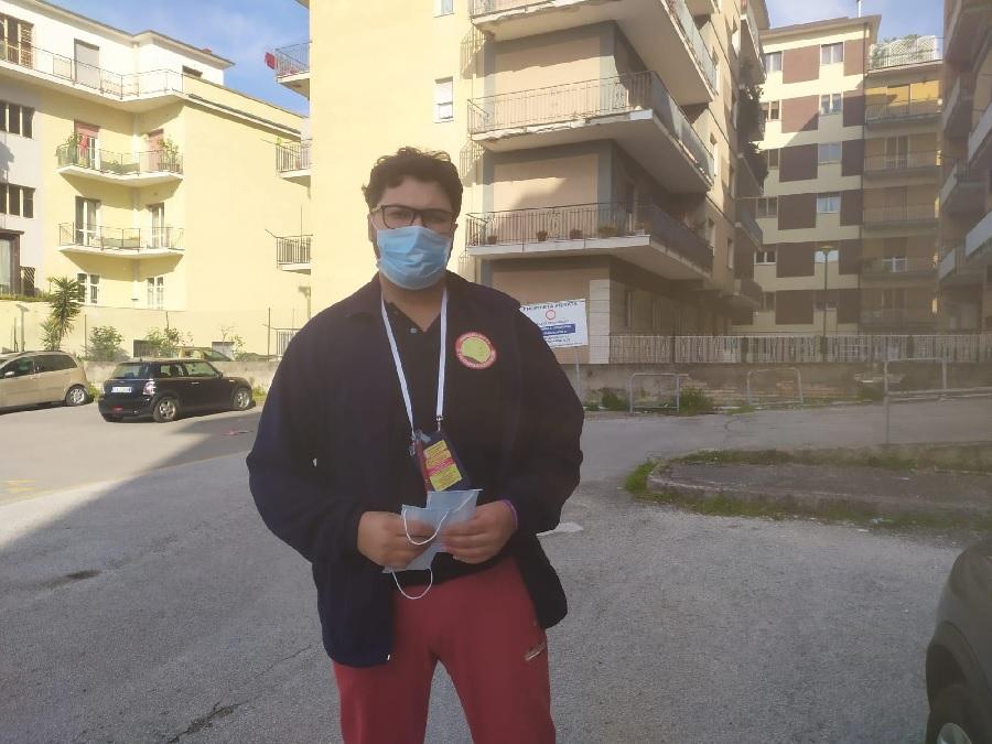 Compagnia San Pio: distribuite le mascherine al rione Mellusi-Atlantici
