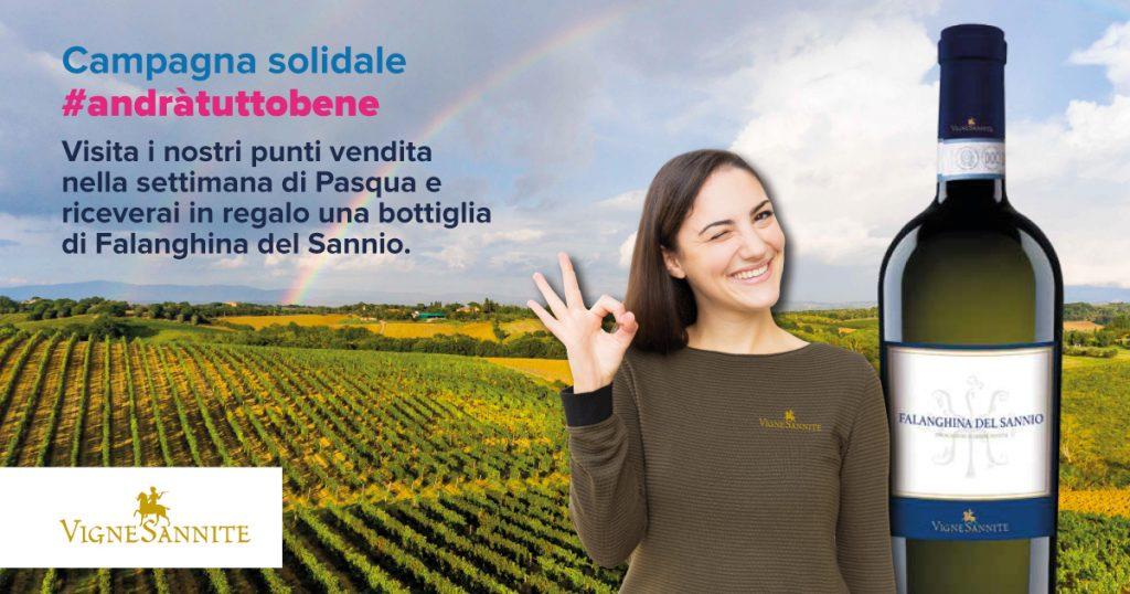 In occasione della Pasqua Vigne Sannite regala una bottiglia di Falanghina del Sannio a tutti i clienti