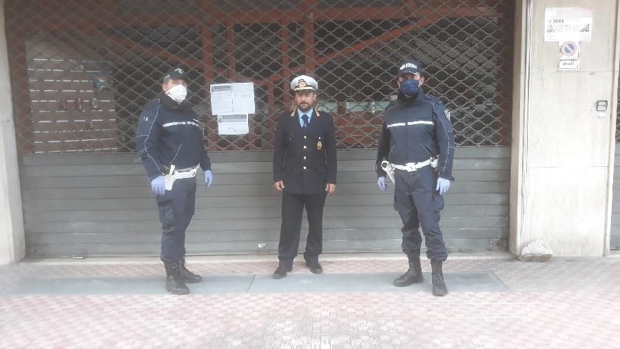 Polizia Municipale Benevento. Chiuso negozio di alimentari al Rione Ferrovia