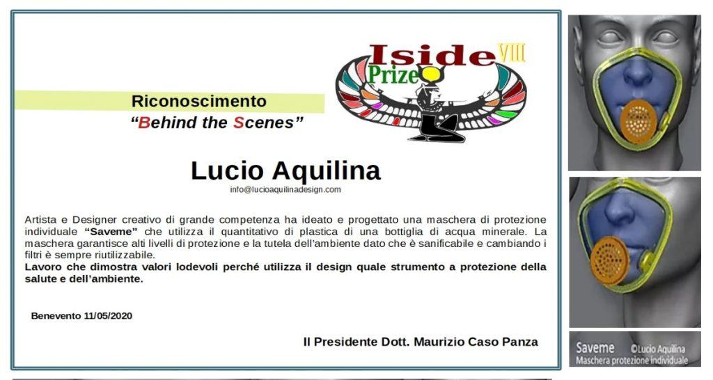"""Conferito il premio """"Behind the Scenes"""" al designer Lucio Aquilina"""