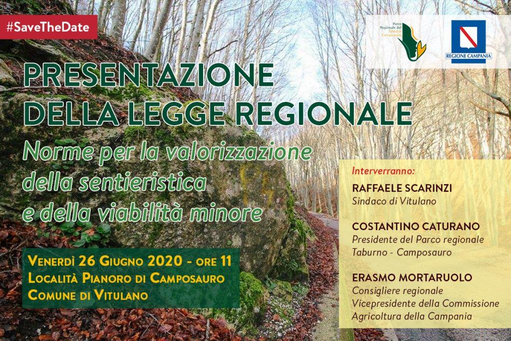 Parco Taburno, Conferenza Stampa per la presentazione della legge sulla valorizzazione della sentieristica e della viabilità minore