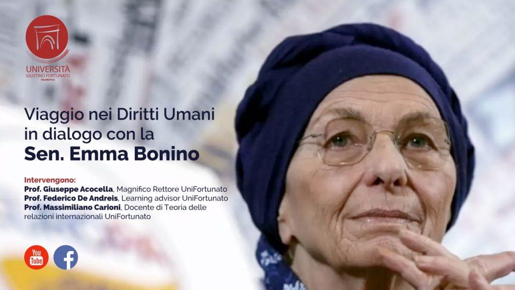 Unifortunato, viaggio nei diritti umani, dialogo con la Sen. Emma Bonino