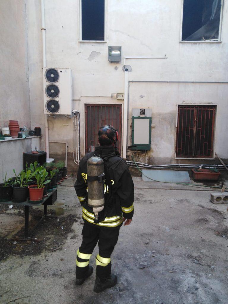 Incendio Casa Canonica S.Maria Ingrisone