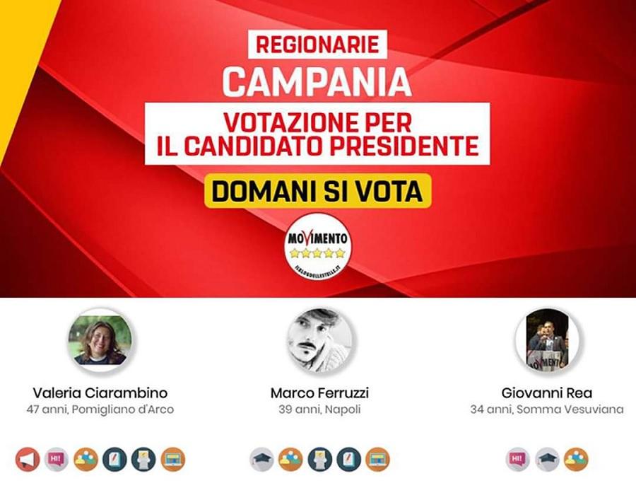 """Elezioni regionali in Campania, Mollica(M5S): """"Tutto pronto per scegliere il candidato alla presidenza"""""""