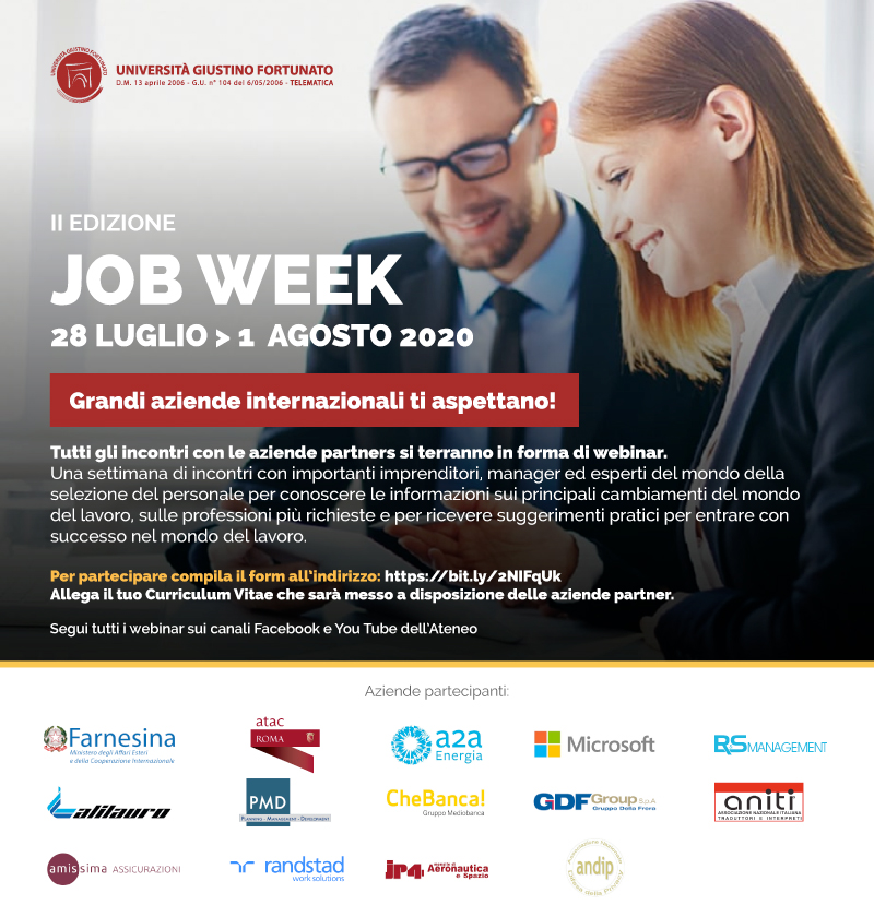 Unifortunato, JOB WEEK 2^ edizione