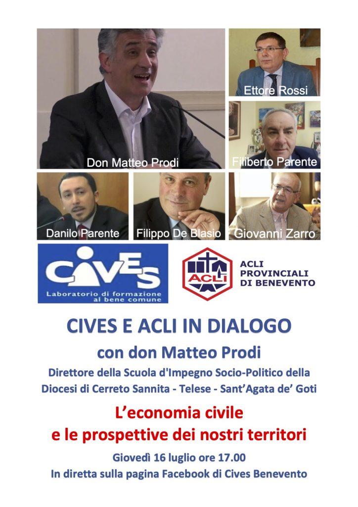 CIVES e ACLI in dialogo con Don Matteo Prodi: l'economia civile e le prospettive dei nostri territori