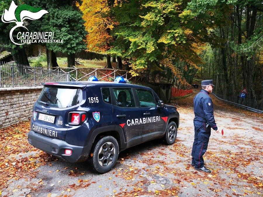 Controlli dei Carabinieri Forestale di Montesarchio per il rispetto del regolamento del Parco Regionale del Taburno