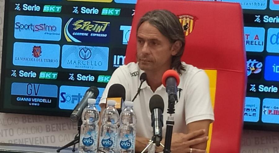 """Il Benevento domani sera a Frosinone. Inzaghi : """"E' l'antipasto della serie A"""""""