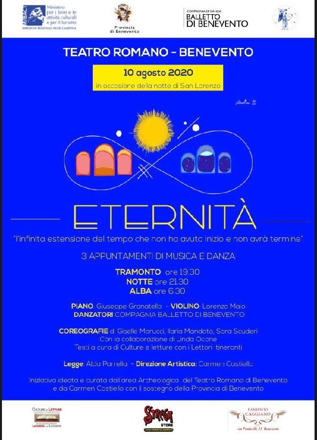 """""""Eternità. L'infinita estensione del tempo che non ha avuto inizio e non avrà termine'' al Teatro Romano di Benevento"""