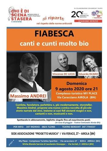 """""""Chi è di scena stasera?"""" l'attore e regista Massimo Andrei chiuderà la rassegna di Monologhi e Corti e Teatrali"""