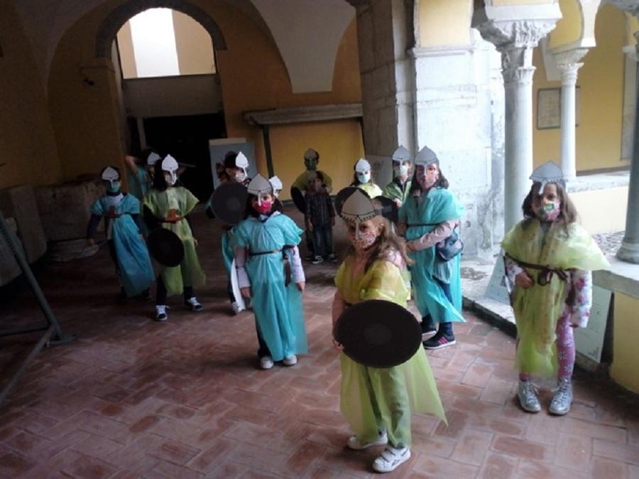I bambini e l'avventura per le giornate del patrimonio al Chiostro di Santa Sofia