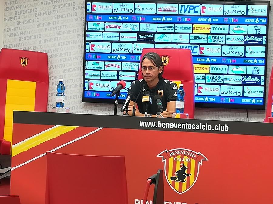 """Benevento,vigilia dell'esordio in serie A. Inzaghi : """"A Genova a testa alta!"""""""