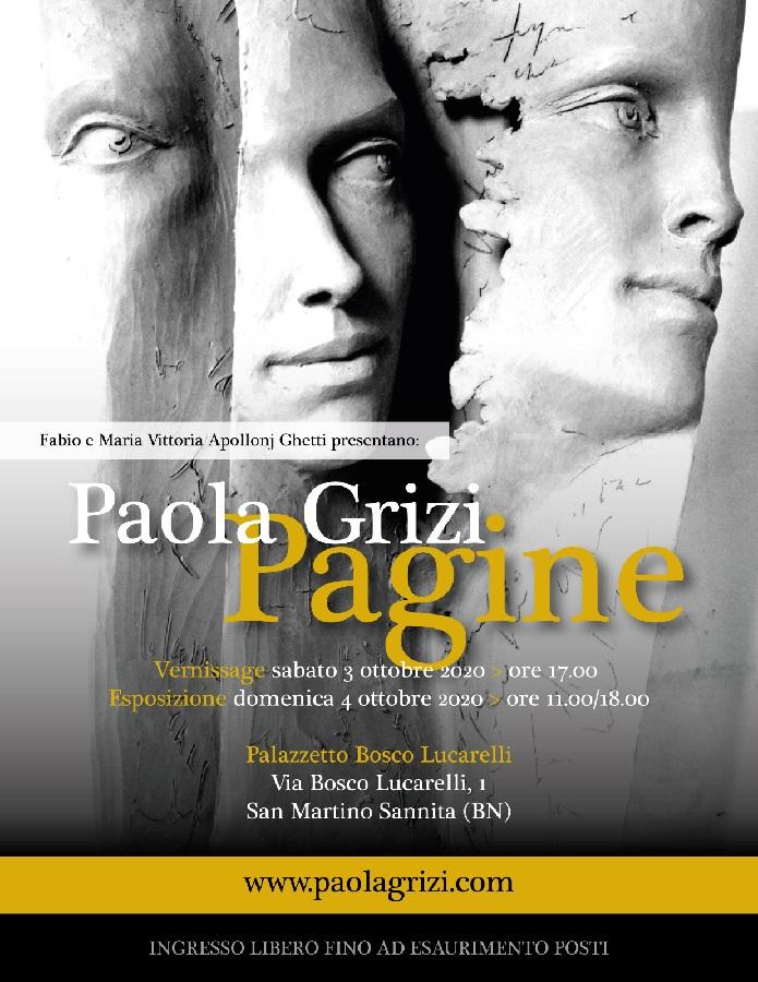 San Martino Sannita. A Palazzo Bosco Lucarelli sabato 3 Ottobre vernissage dell'artista internazionale Paola Grizi.