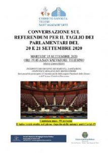 Referendum taglio parlamentari, domani conversazione a cura della Scuola di Impegno Socio-Politico e dell'Azione Cattolica diocesana