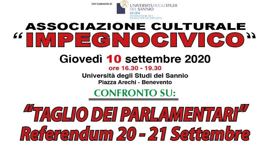 Taglio dei Parlamentari – Referendum 20-21 settembre Confronto all'Unisannio