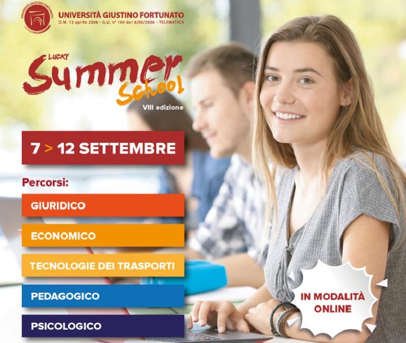 Dal7 al 12 settembre l'UniFortunato Giustino Fortunatoorganizza l'VIII Edizione della Lucky Summer School.