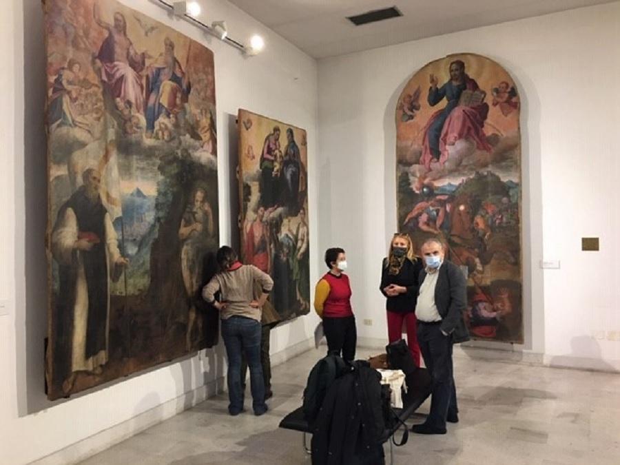 Cominciato il restauro delle tele di Donato Piperno al Museo del Sannio