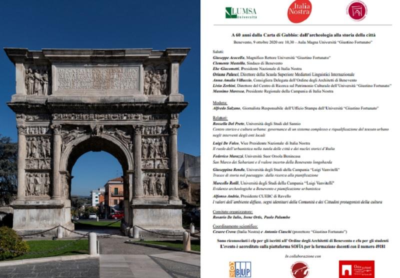 """Alla """"Giustino Fortunato""""seminario: a 60 anni dalla Carta di Gubbio """"dall'Archeologia alla Storia della Città"""""""