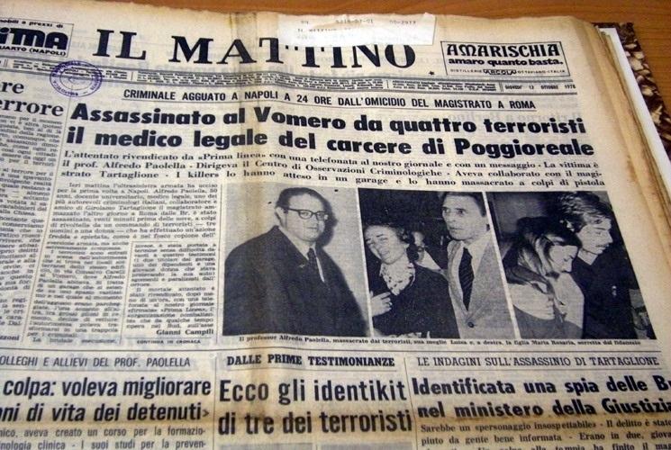 """In memoria del prof. Alfredo Paolella, vittima di """"Prima Linea"""""""