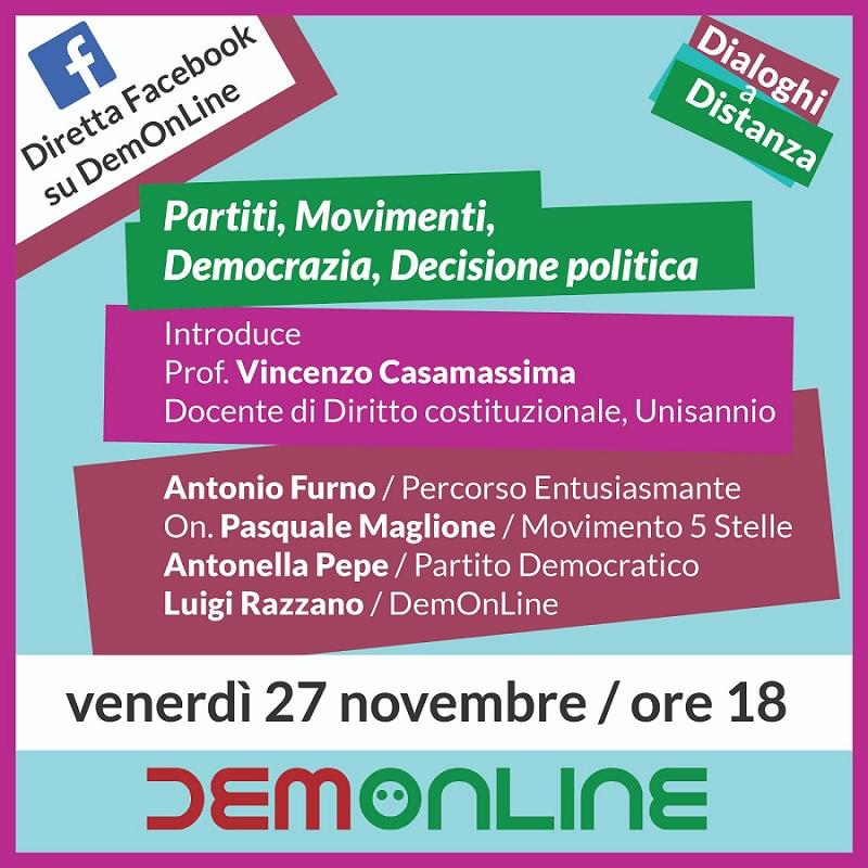 Dialoghi a Distanza con DemOnLine su diversi temi legati alla politica locale e nazionale